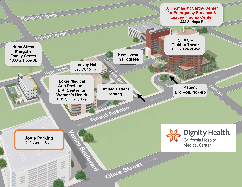 Map Of California Hospitals.Hope Street Family Center