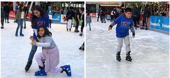 Hope Street kids ice skating